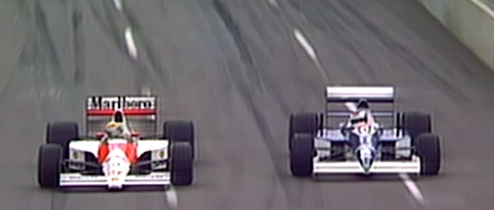 On This Day In F1 - Alesi Gave Senna A Fright