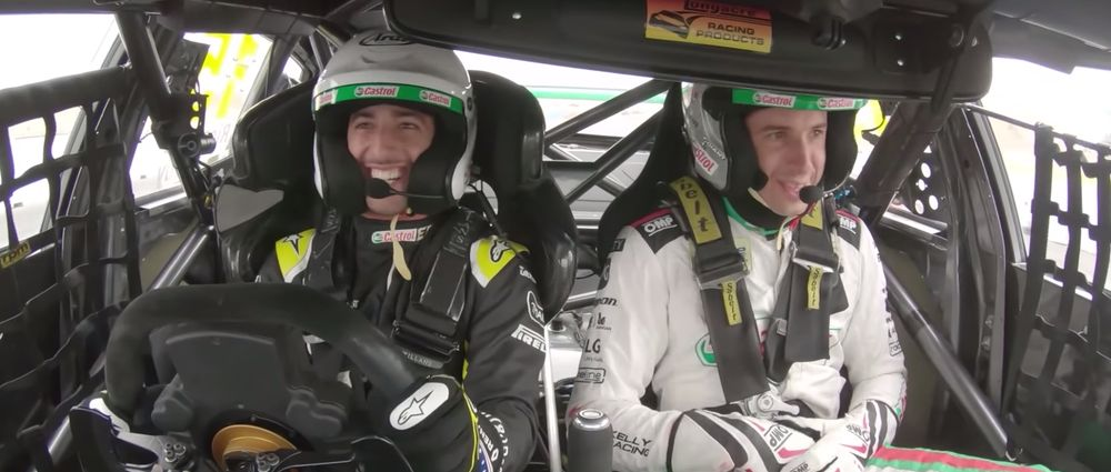 Ride Onboard With Ricciardo As He Tests An Aussie Supercar