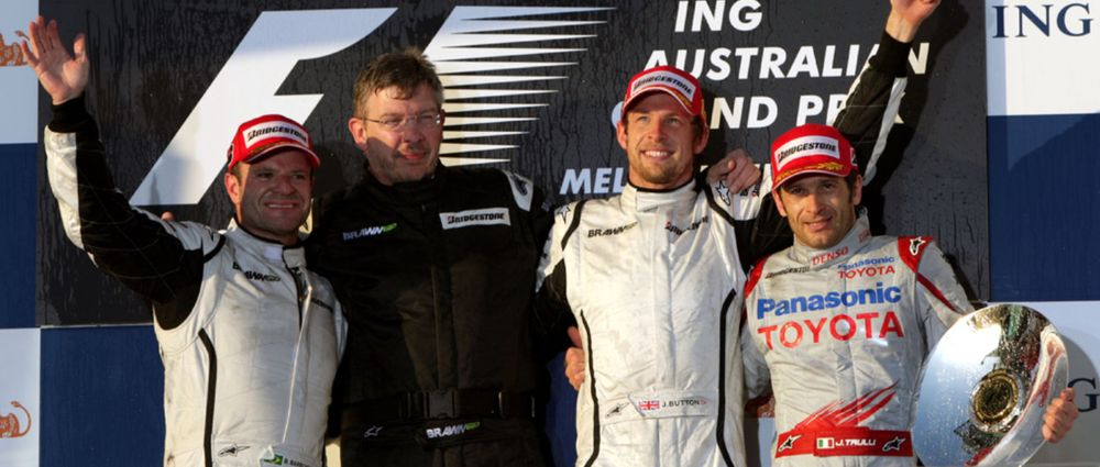On This Day In F1 - Brawn GP Finished One-Two In Its First Race