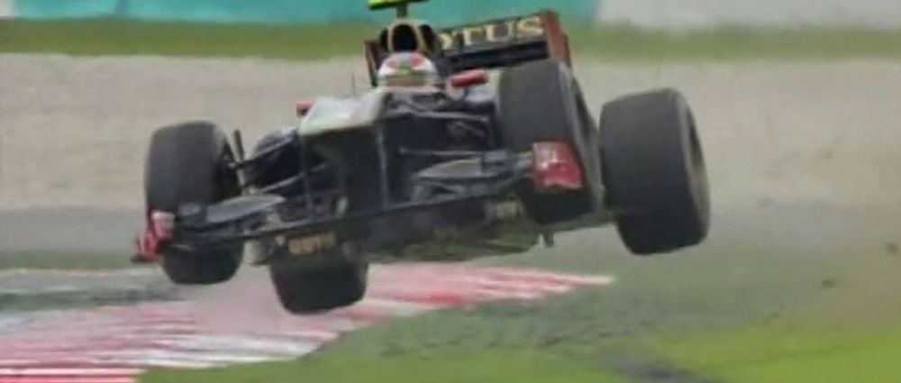 On This Day In F1 - Petrov Took His Renault Over A Sweet Jump
