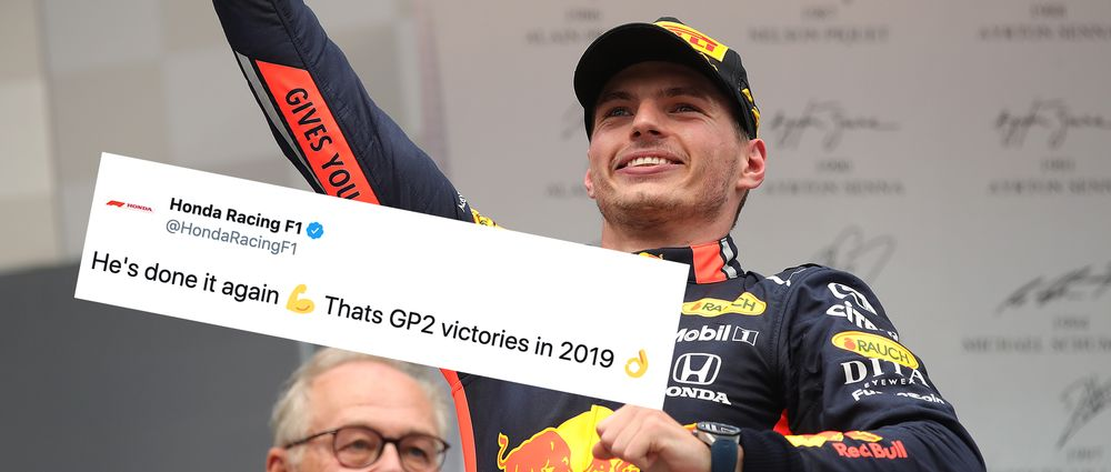 Honda Made A Cheeky Reference To Alonso After Verstappen Won The German GP