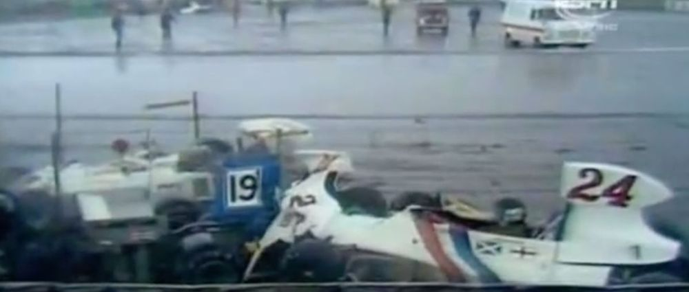 On This Day In F1 - 13 Drivers Crashed Out In One Lap During A Freak Hail Storm