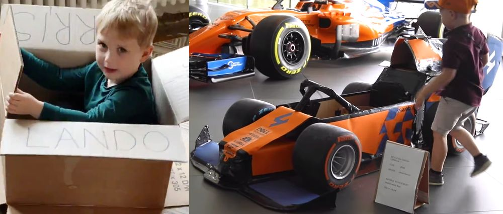 McLaren Built An F1 Car Out Of Boxes For This Young Lando Norris Fan