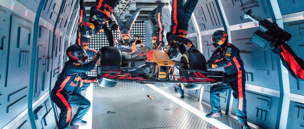 Watch Red Bull Perform A Pit Stop In Zero Gravity