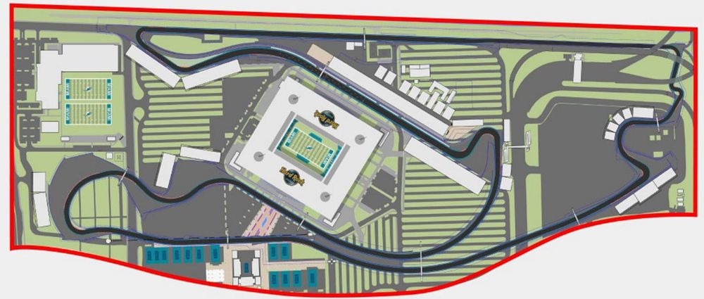 The Proposed New Layout For The Miami Grand Prix Is Located In A Car Park