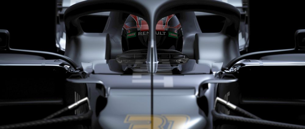 Renault Has Teased An All-Black Livery Which Suspiciously Hides The Front Of The Car