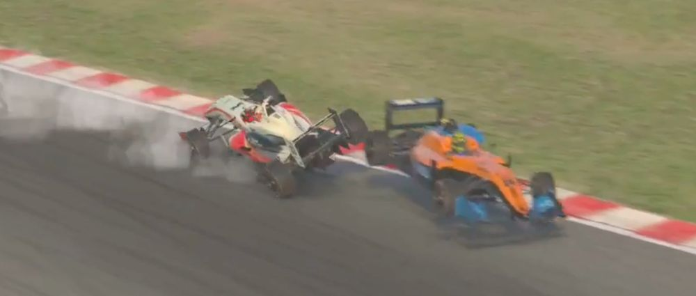 Verstappen And Norris Collided While Fighting For The Lead In A Sim Race At Spa