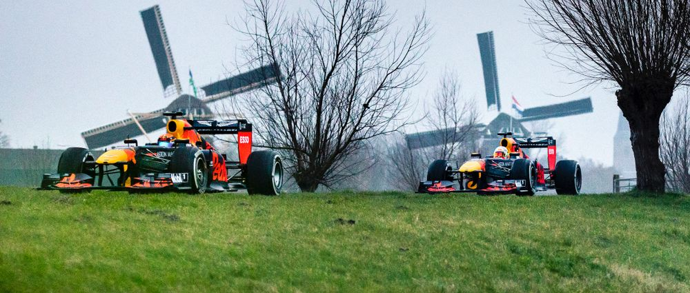 Watch Verstappen And Albon Take F1 Cars On A Tour Of The Netherlands