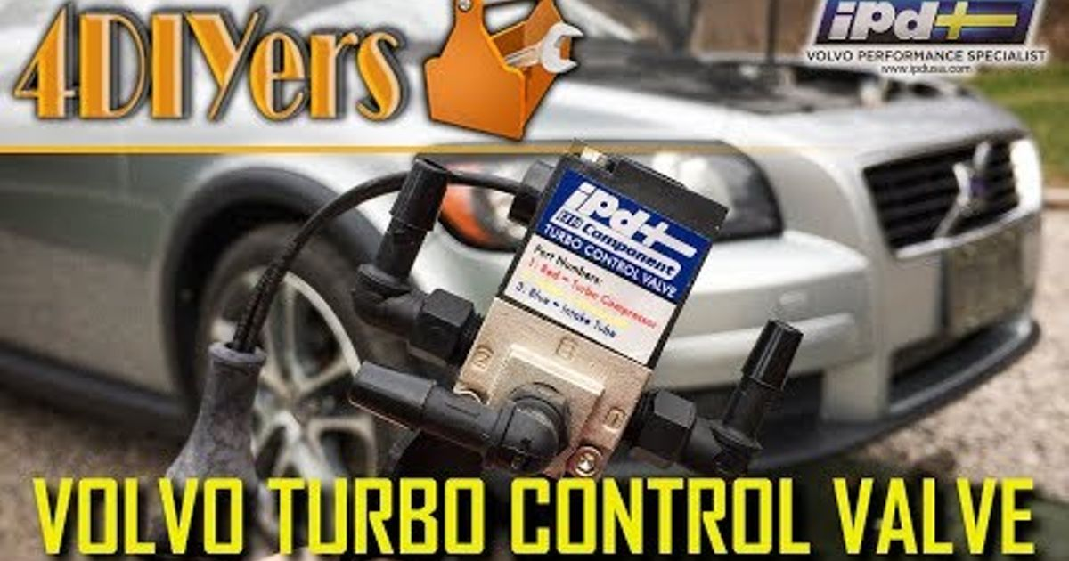 How to Replace the Turbo Control Valve on a Volvo C30 S40 V50 C70