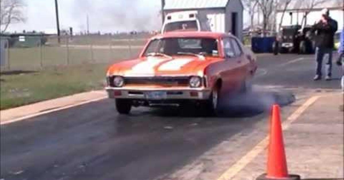 Chevy Nova with Rotary Swap