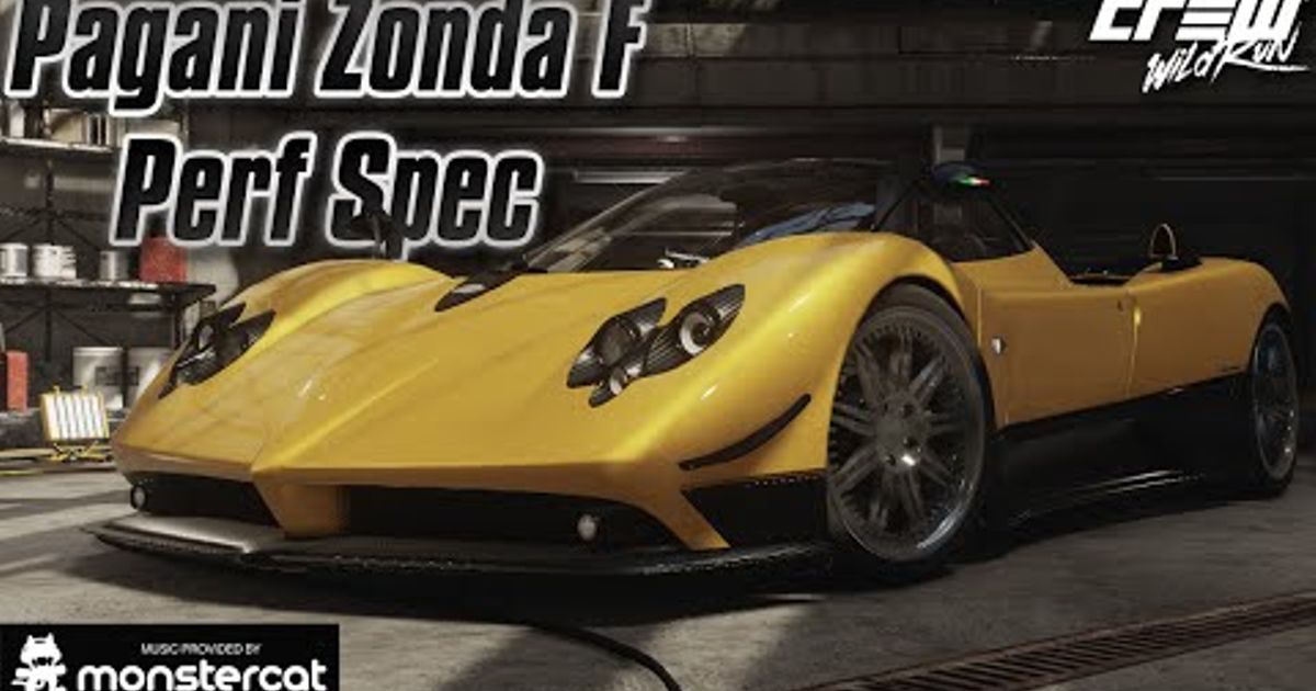 pagani zonda f performance spec build (the crew wild run)