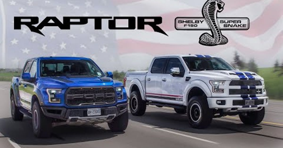 Ford Shelby F150 >> American Muscle Trucks Ford Raptor Vs 700hp Shelby F150