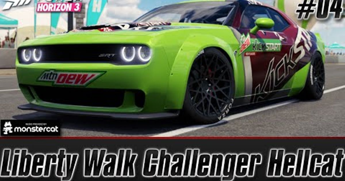 Dodge Challenger Srt Hellcat Liberty Walk Forza Horizon