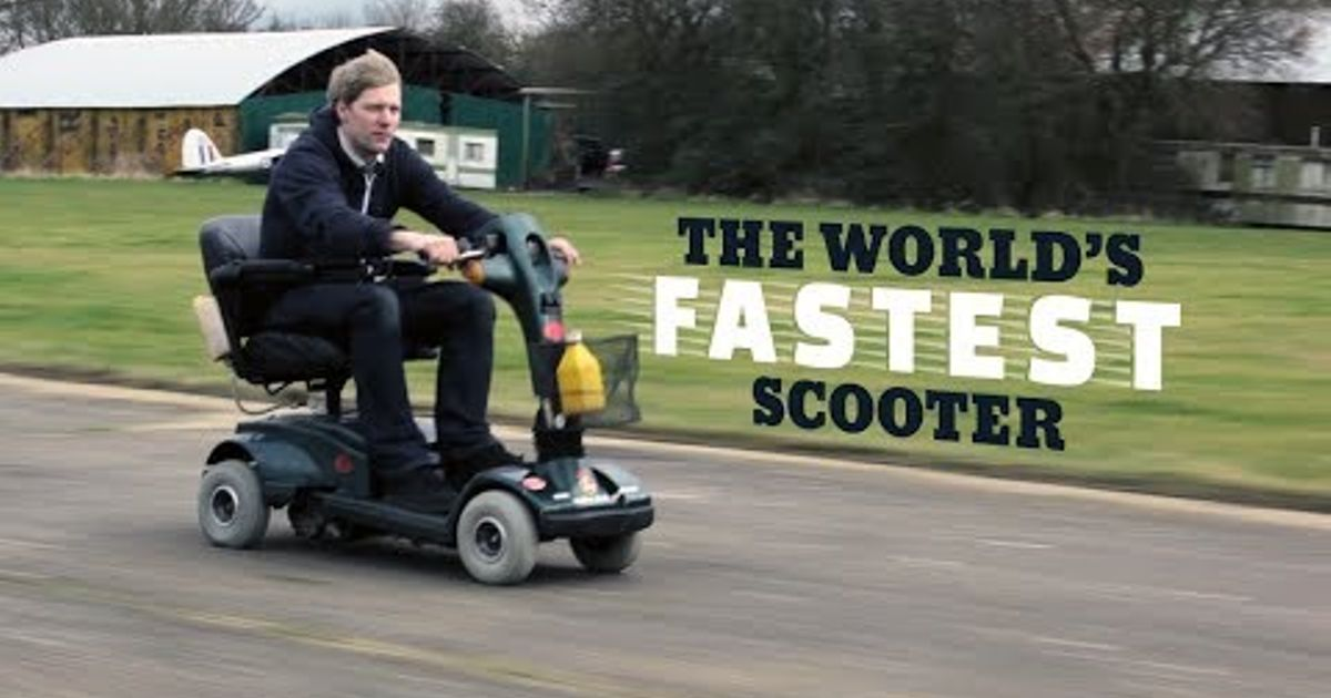 This Insane Inventor Built The World S Fastest Mobility Scooter