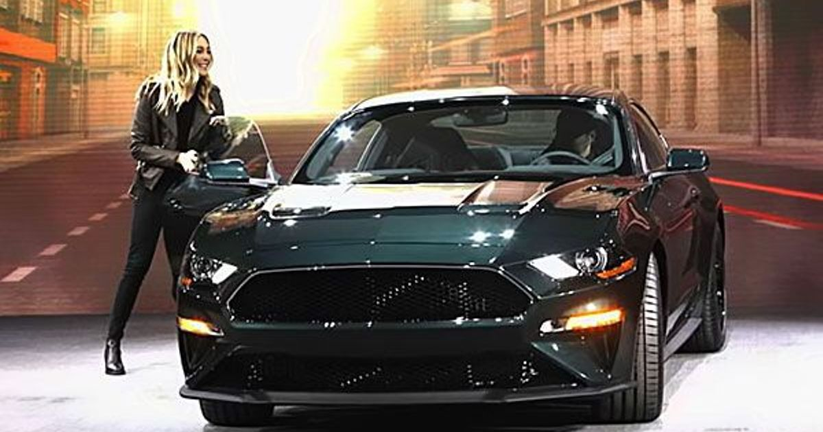 Steve McQueen's grand daughter Molly McQueen unveiled the 2019 edition of the Bullitt Mustang