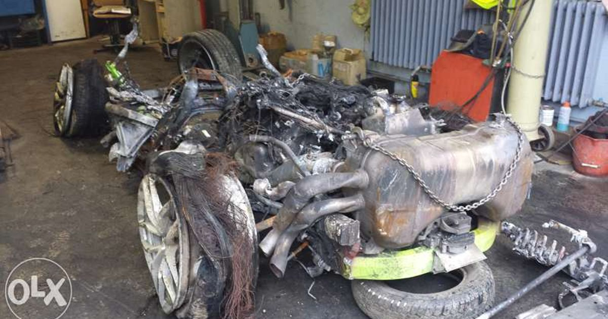 you can buy the wrecked lamborghini huracan that crashed in