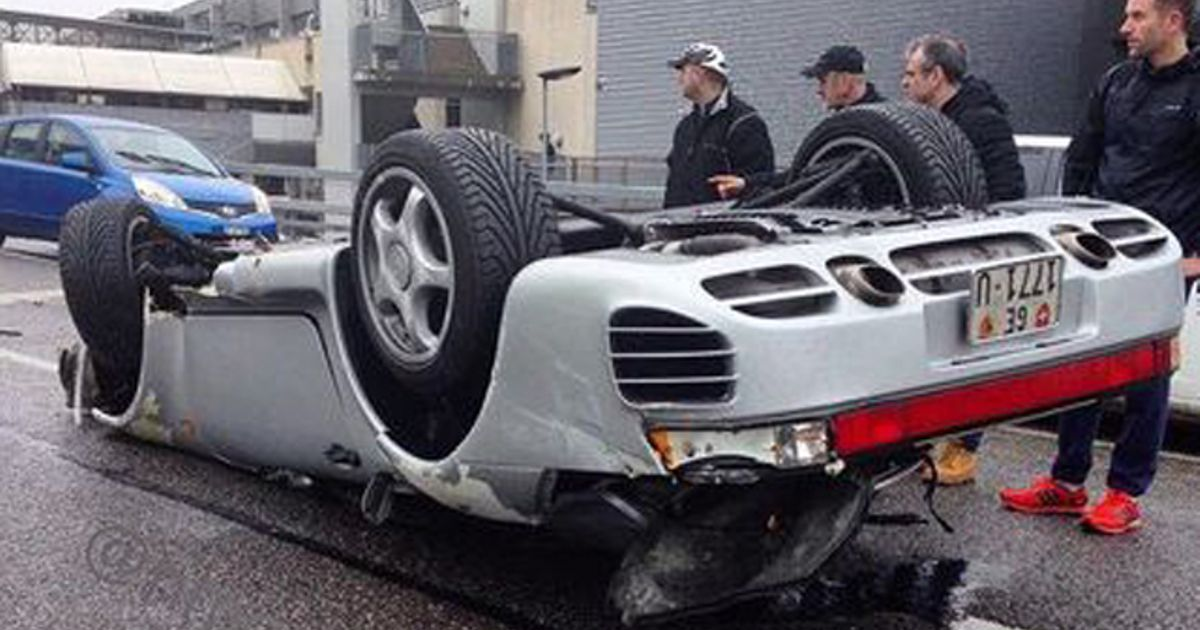 Someone Just Flipped Their Precious Porsche 959