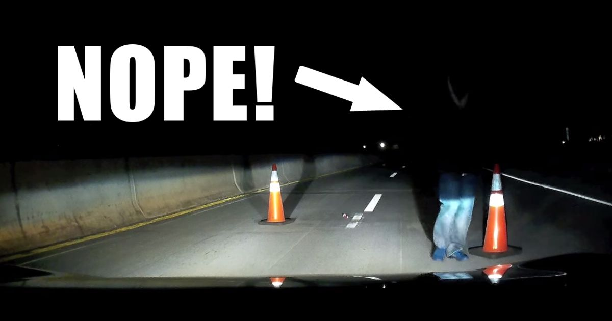 This Guy Was Driving Alone At Night When He Came Across