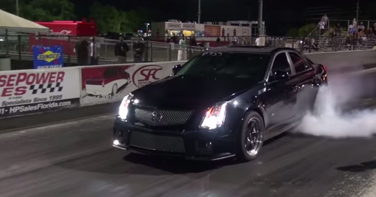 The World S Fastest Cadillac Cts V Just Blitzed The 1 4 Mile In 9