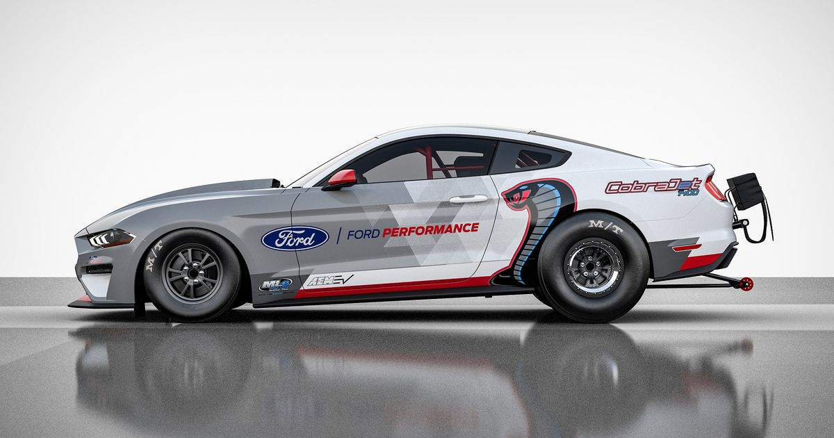 The New 1400bhp, All-Electric Ford Mustang Cobra Jet Will Run An 8sec Quarter