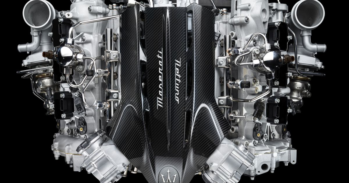 This Is Maserati s New 613bhp Midship Twin-Turbo V6
