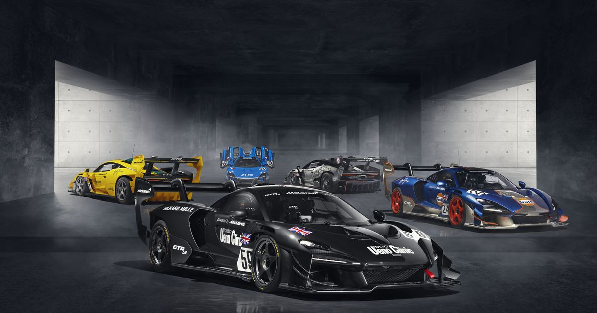 McLaren s Five Liveried Senna GTRs Celebrate 1995 Le Mans Glory