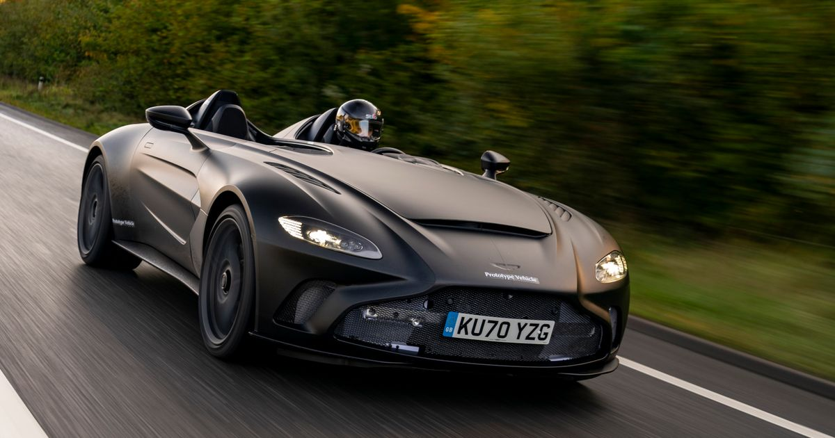 The Aston Martin V12 Speedster Looks Suitably Ridiculous On The Road