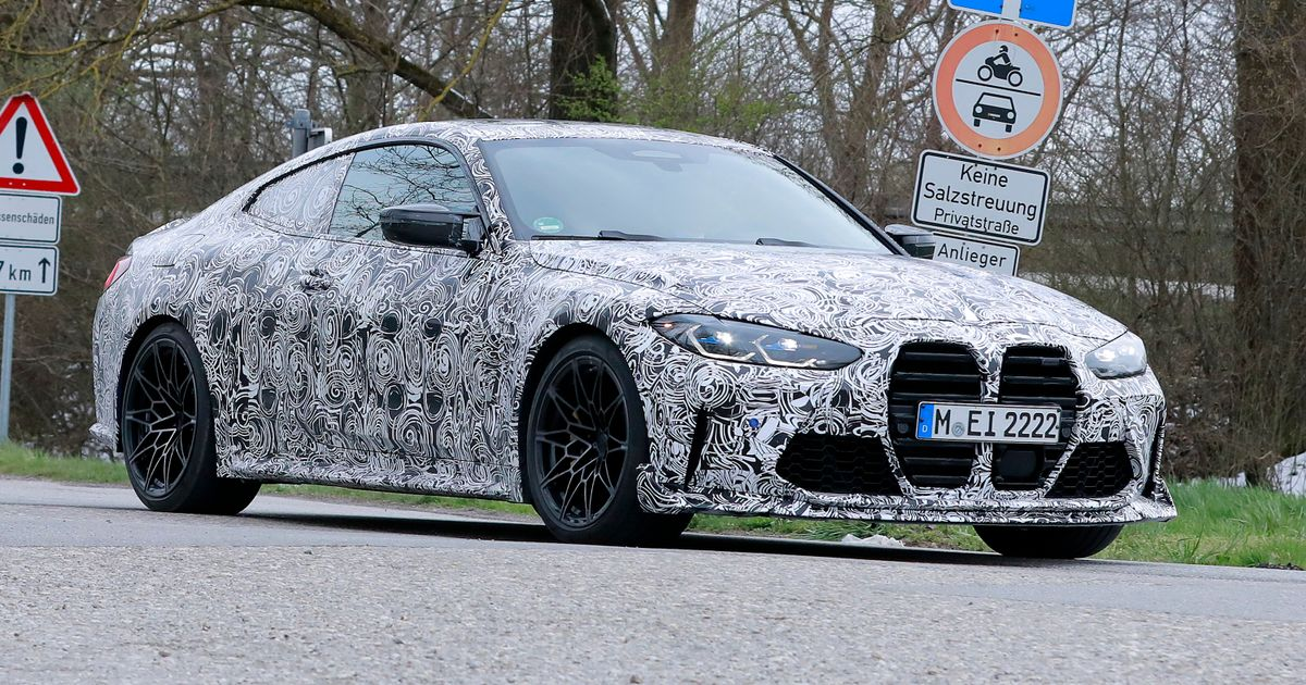 BMW M4  CSL  Test Mule Papped Looking Very Angry