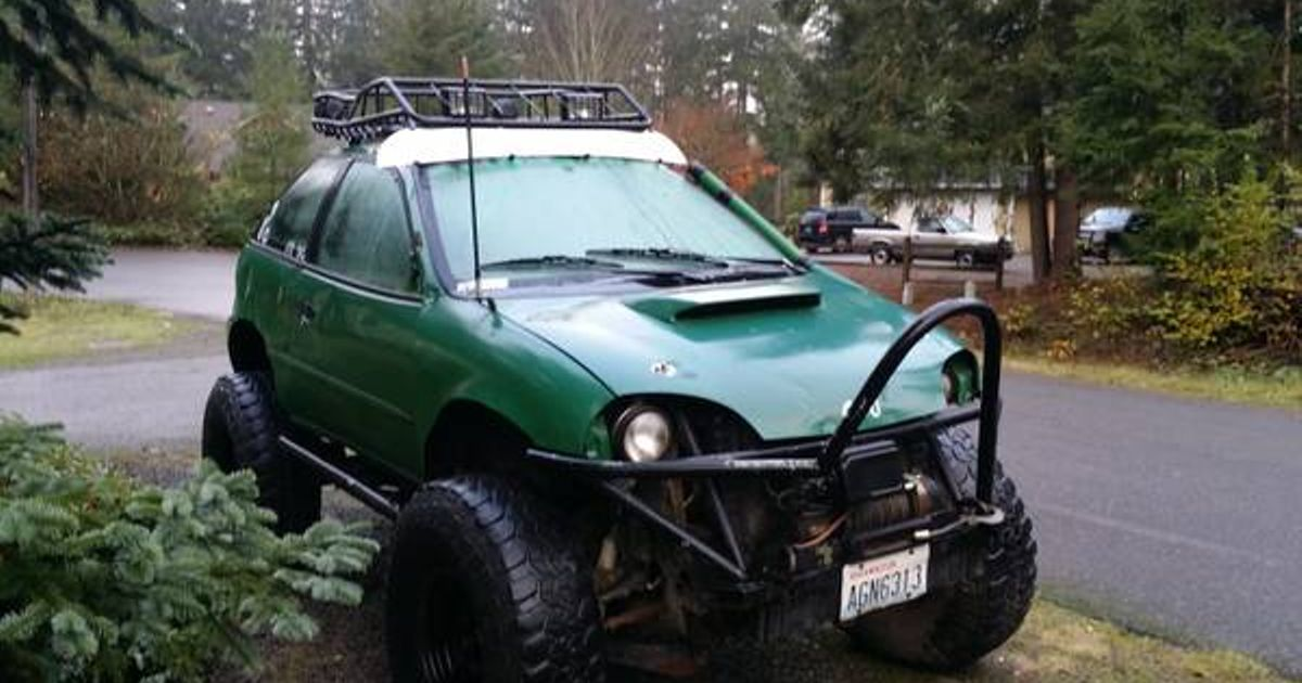 Yes This Is A Thing Geo Metro On A S10 Blazer Frame With