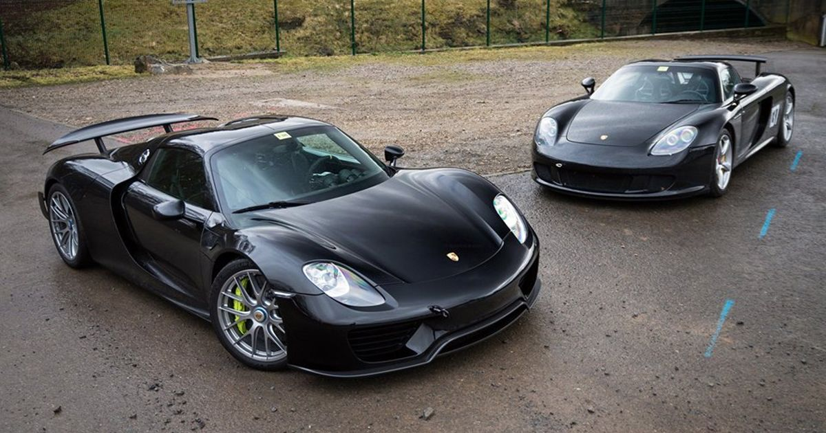 Porsche 918 and his older brother Carrera GT.