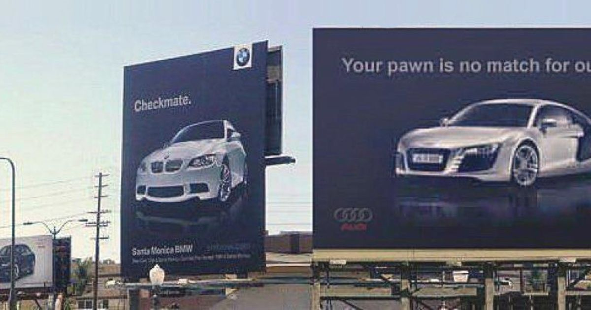 Audi Your Move Bmw Bmw Checkmate Audi Your Pawn Is No