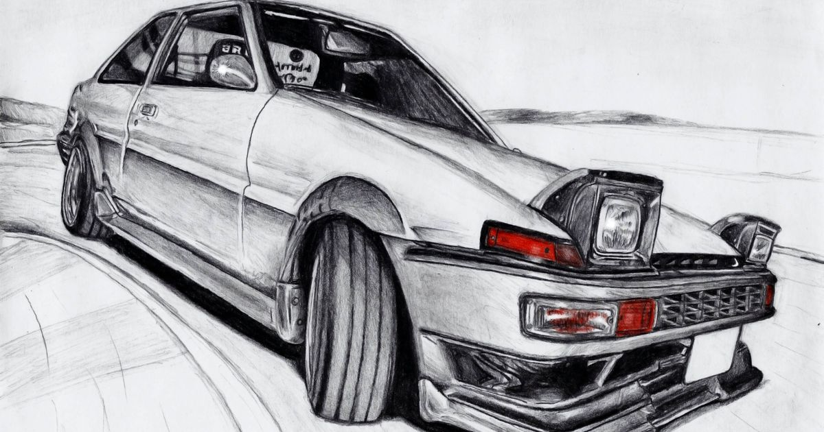 Ae86 For Sale Ct >> My AE86 Drawing