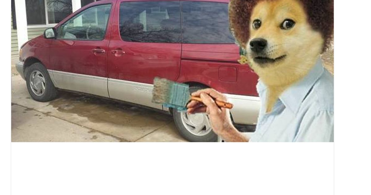 That moment when doge bob ross wants to sell a car for Bob ross mercedes benz