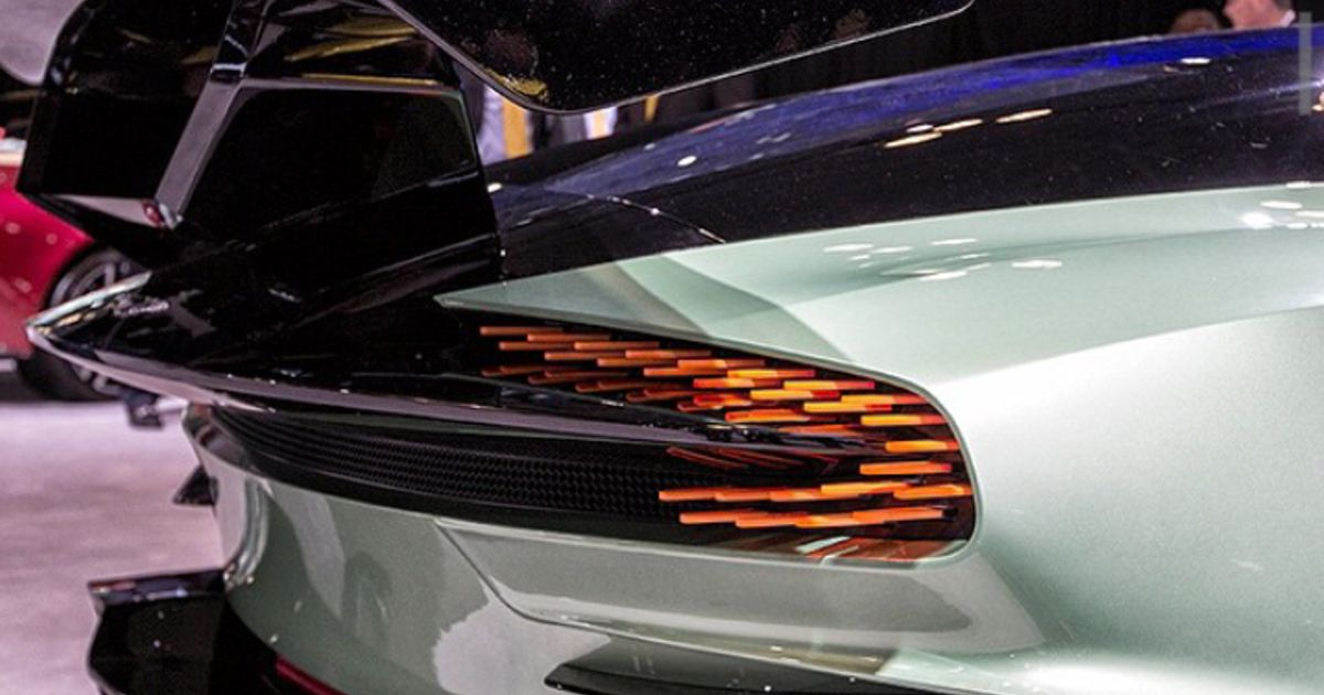 Rear Lights On The Aston Martin Vulcan
