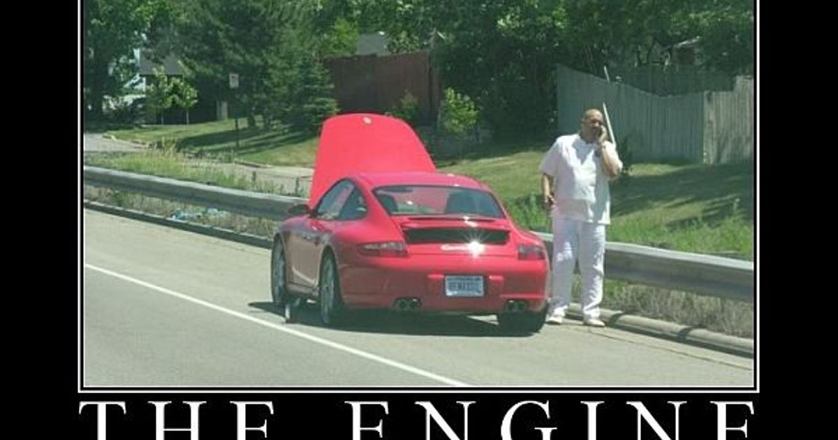 Porsches are front engine, front wheel drive... riiight?!