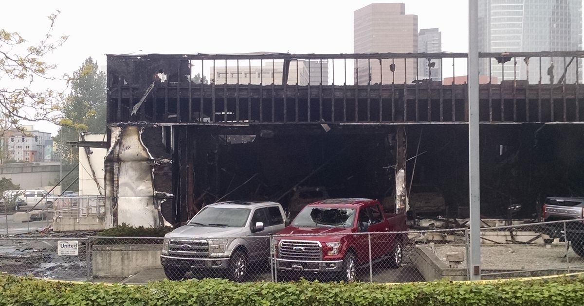 My Local Ford Dealer Burned To The Ground More Pics In The Comments