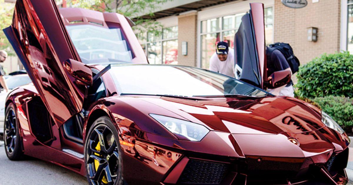 Lamborghini aventador with a gorgeous paint job........