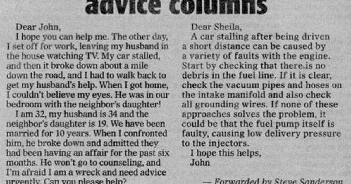 Why Men Shouldn T Write Advice Columns