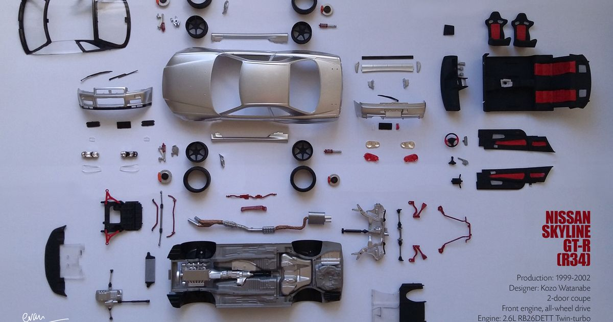 tamiya nissan skyline gt    build