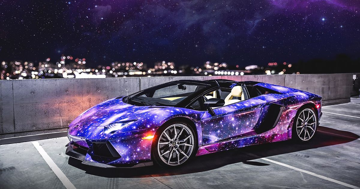 GalaxyThemed Lamborghini Aventador Roadster from Canada