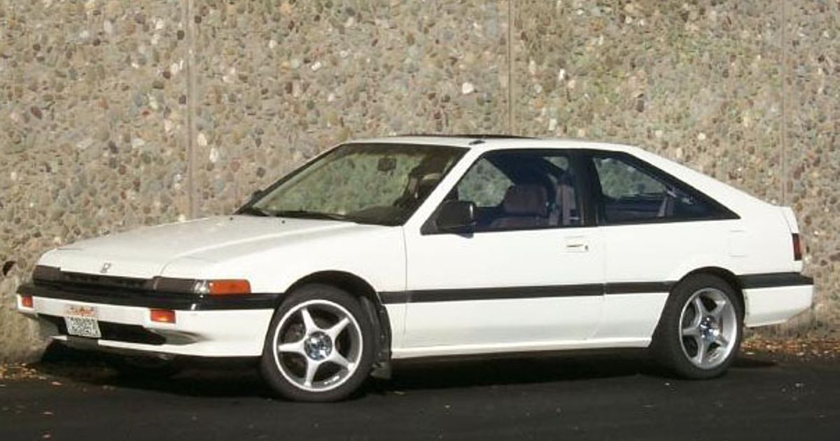The front wheel drive AE86: 1987 Honda Accord Hatchback.