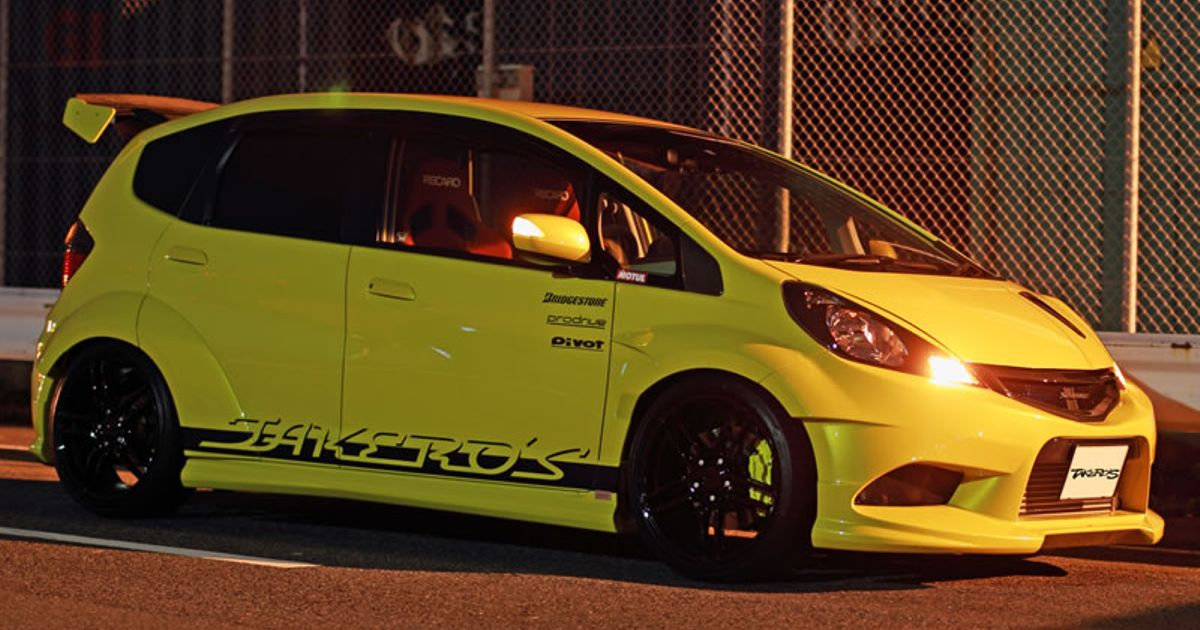 Honda Jazz / Fit GE with Takero's wide body.