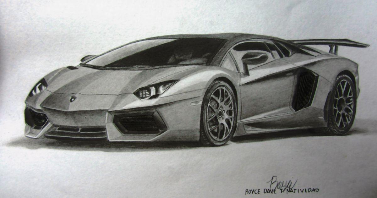 my lamborghini aventador graphite drawing - Lamborghini Black And White Drawing