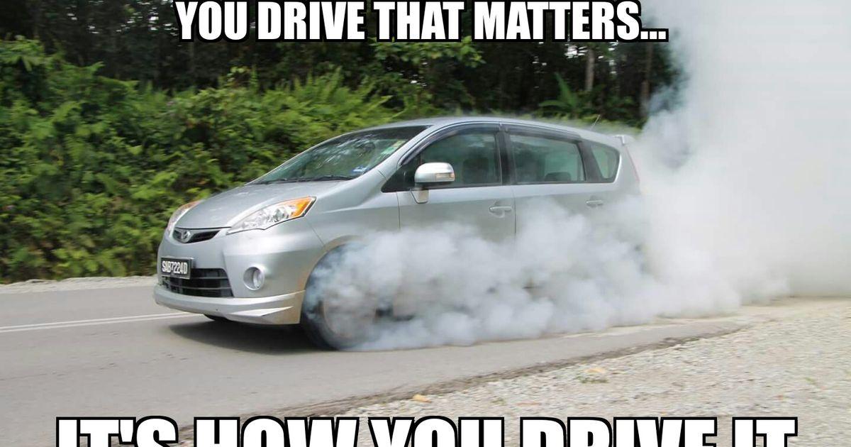 Best Used Minivan >> Glorious 105bhp (rental) minivan burnout!