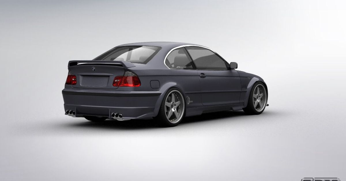 bmw e46 from 3d tuning. Black Bedroom Furniture Sets. Home Design Ideas