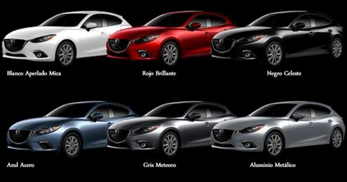 Mazda 3 colours 2015