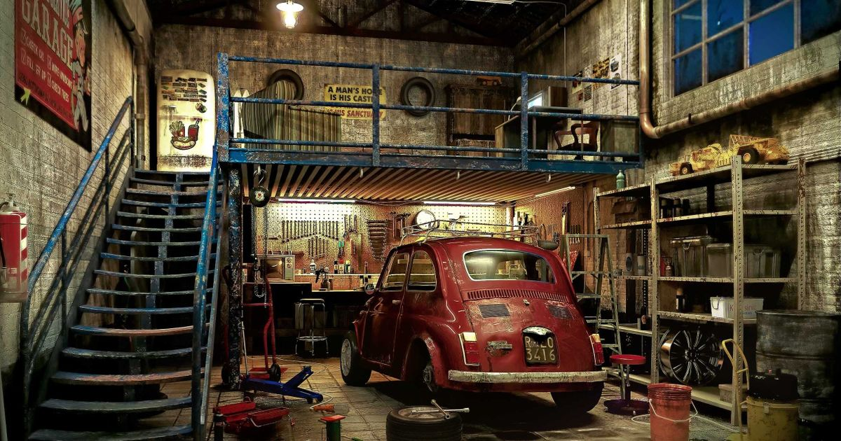 Putting cars aside what would your dream garage look like for Garage fiat echirolles