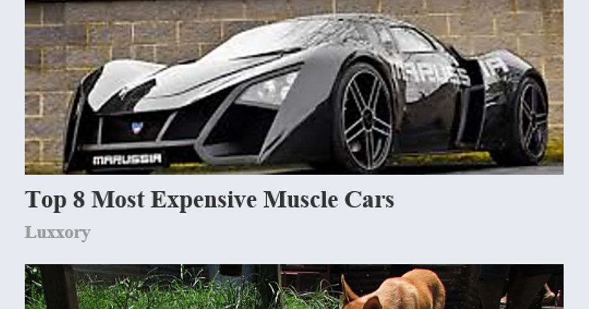 Top 8 most expensive muscle cars😂😂😂