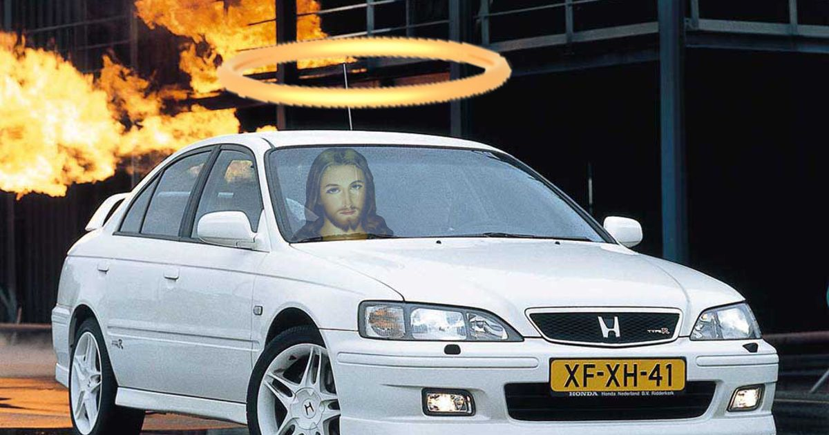 """I believe that everyone knows Jesus drove a Honda. John 12:49 """"For I do not speak of my own ..."""