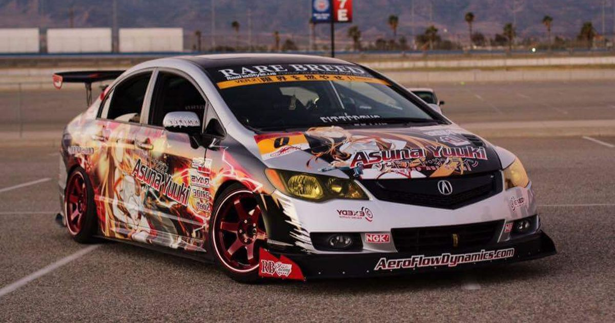 omg atheydevyns civic   sick  itasha wrap   amazing